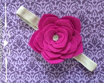 Infant Felt Layered Petal Flower Headband
