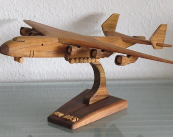 Antonov An-225 AN 225 cargo plane with stand wood crafted XXL