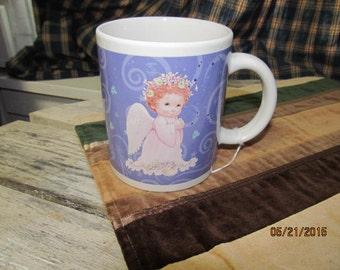 Vintage Morehead Inc.  Angel Cherub Houston Harvest Coffee Cup Mug