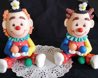 Circus Cake Topper, Clown Cake Topper, Carnival Birthday, Circus Baby Shower, Circus Birthday Party, Circus Decoration, Carnival Baby Shower
