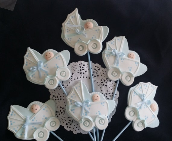 Carriage baby shower decoration carriage baby by for Baby carriage decoration