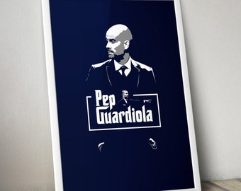 Pep Guardiola - The Godfather Print