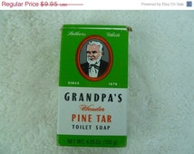 Sale Vintage Grandpas Wonder Pine Tar Soap