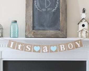 Its A BOY Banner-Baby Shower-Choose your Color-Gender Announcement-Nursery Decor-Gender Announcement Photo Prop