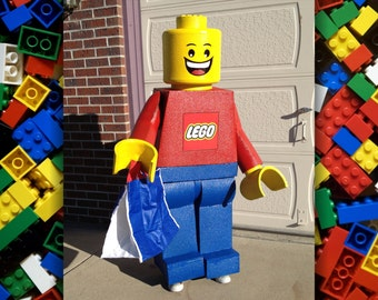LEGO Minifigure Costume. Made to order life-size freestanding replica. Child and adult sizes available.