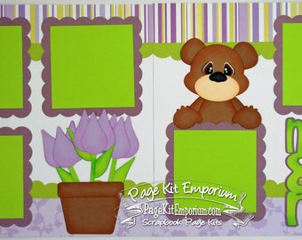 Scrapbook Page Kit Mother's Day Mom & Me 2 page Scrapbook Layout 123