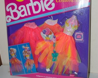 Barbie Costume Ball Fashions Orange Ballgown or Fabulous Bird Outfits 1990
