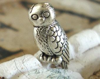 5 Owl beads