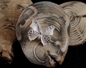 Butterfly brooch, sterling silver