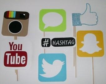 DIY Photo Prop Social Media Facebook, Snapchat, You Tube (2135D)