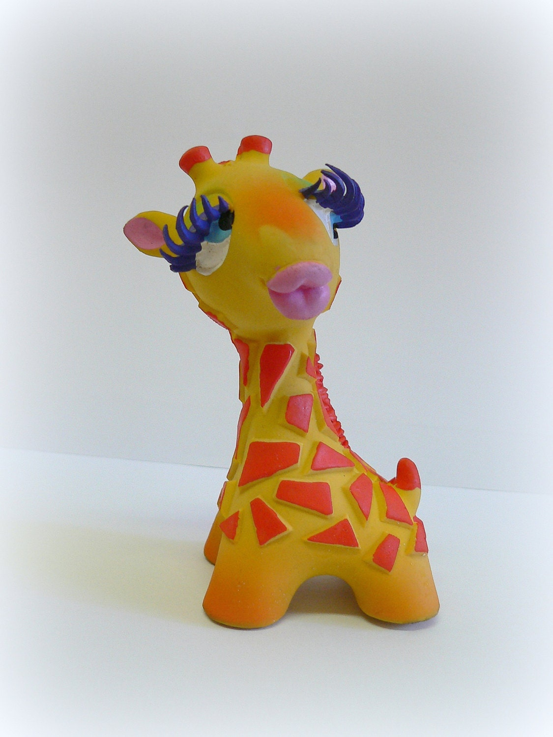 Squishy Rubber Toys : Rubber Giraffe Toy soft rubber animal toylatex Lanco by Reemon