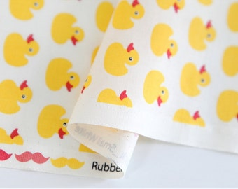Cotton Fabric Small Duck White By The Yard