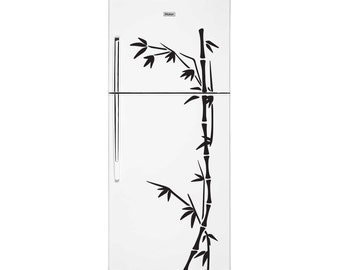 Bamboo Fridge Decal Sticker - Kitchen Decal -Vinyl Sticker
