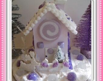 Purple candy land house.