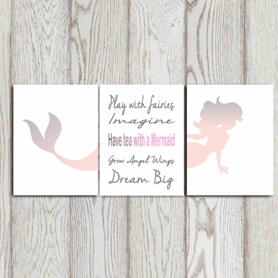 Etsy Girls Room Wall Print