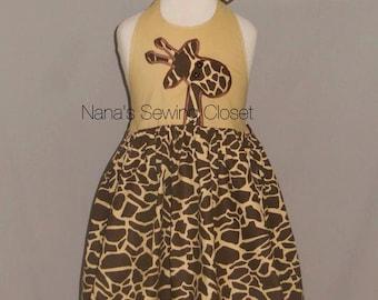 Giraffe  Safari Dress /ready to ship size 4t
