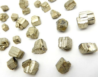 Pyrite Nuggets 5, 10, 25, or 50 pieces -- Chakra Reiki Jewelry Supply (RK11B6)