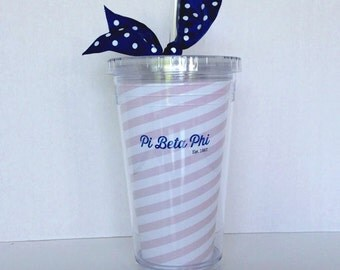 Pi Beta Phi Tumbler and Straw