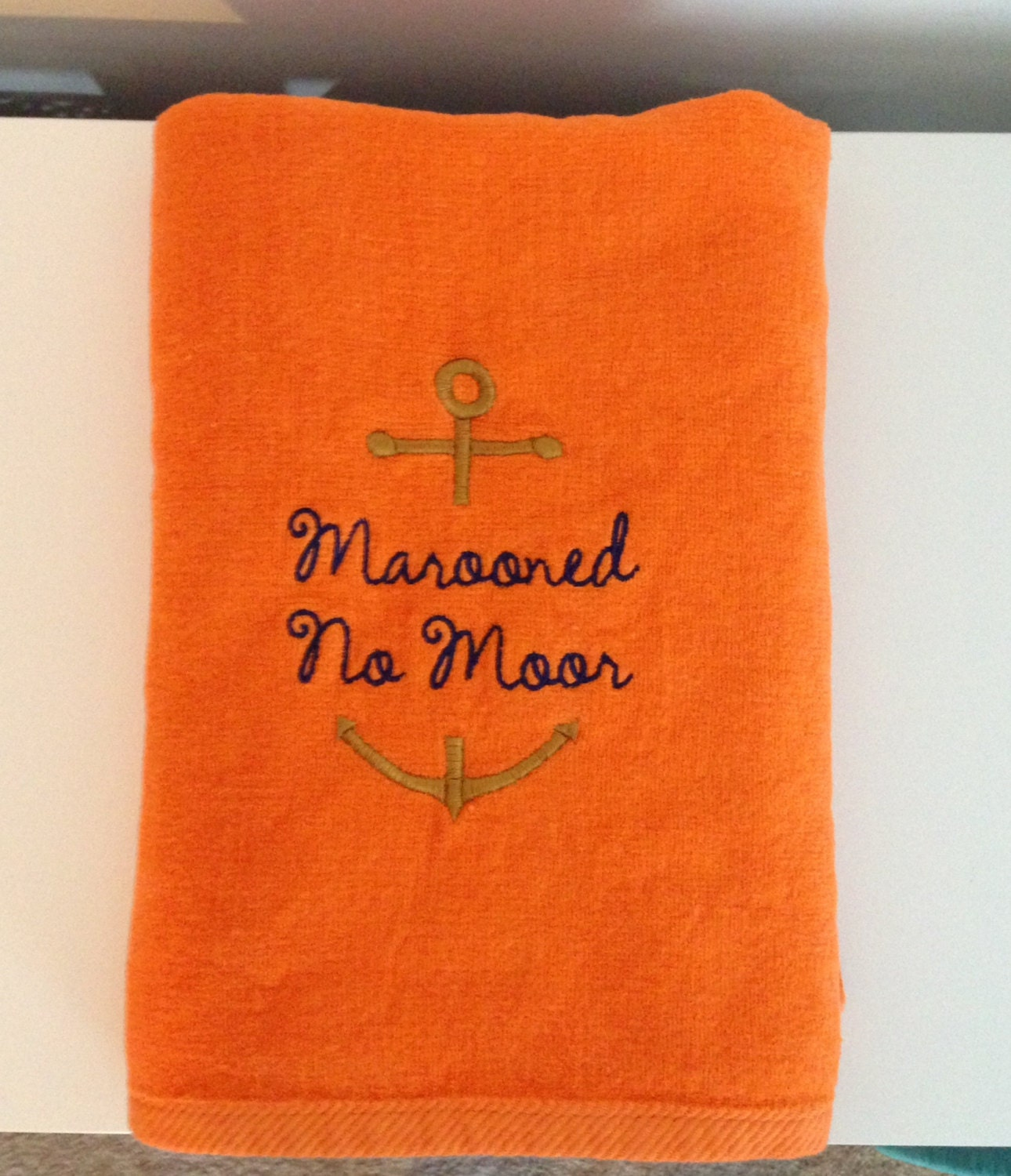 Personalized Boat Towels Boat Name With Anchor BeachTowel