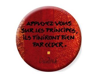 "Frigo magnet ""Oscar Wilde"" - red & orange... with the french touch !"