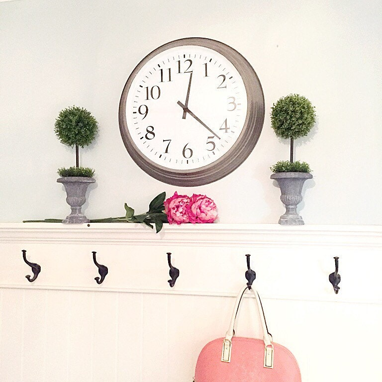 Big Wall Clock Large Rustic Kitchen Office Home Decor Wall