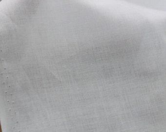 "Lining Fabric, Lining Cloth fabric, Dress Lining, No strech-White cotton fabric -57""(145cm) wide"