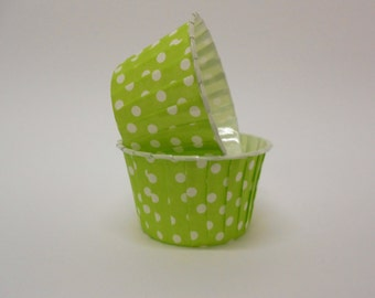 Lime Green Polka Dot Candy/Nut Cup - Candy, Nut, Cup, Cupcake