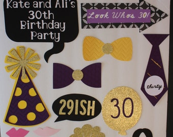 Photo Booth Set - Thirty - 30th Birthday