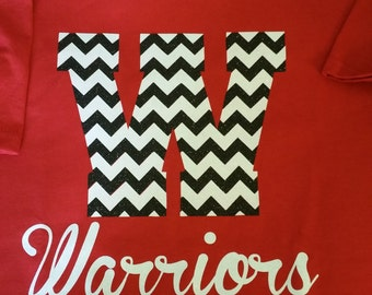 school spirit, Spirit Wear, Chevron, Mascot, Team Sports, Custom Tee