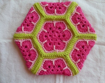 Crocheted Flower Pot Holder