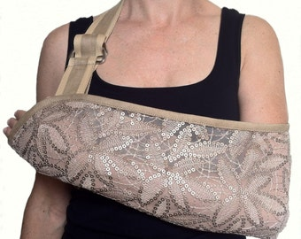 Subtle Sequin Designer Arm Sling
