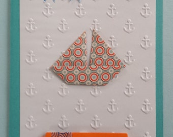 "Card ""origami boat"""