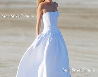 Offer! Mikado Wedding gown with pockets on sides, Wedding dress, Classic wedding