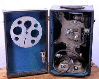 Vintage Projector 16mm - Keystone A-81 Movie Film Projector with case & lens. Working.
