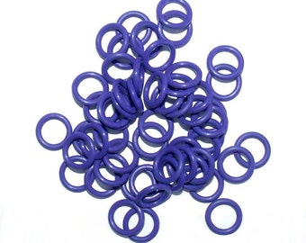"""100 Pieces of 16 Gauge 5/16"""" PURPLE EPDM Chainmail Rings - Chainmail Supplies, RUBBER Jump Rings, Jewelry Supplies, Stretchy Jump Rings"""