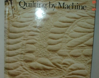 """Vintage 1991 Singer Reference Library Series """"Quilting By Machine"""" Hardcover Book NM"""