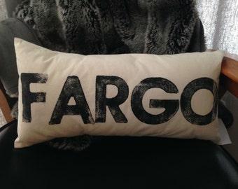 Fargo Pillow - custom stamped