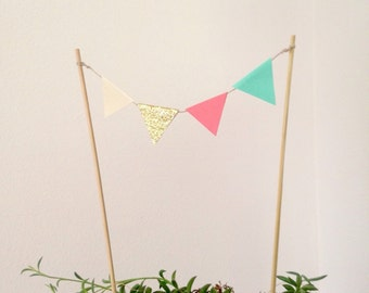 Flag Bunting Cake Topper - Party Topper Flag Topper