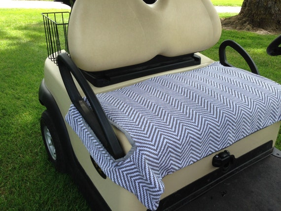 gray and white chevron terry cloth golf cart seat cover. Black Bedroom Furniture Sets. Home Design Ideas