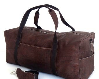Cork Travel Bag / Weekend Bag - FREE SHIPPING WORLDWIDE -  Vegan Eco-Friendly / Christmas Gift Idea
