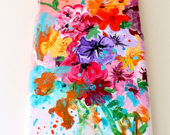 """Hand painted phone case. """"In Bloom"""". Acrylic painting on hard plastic case."""