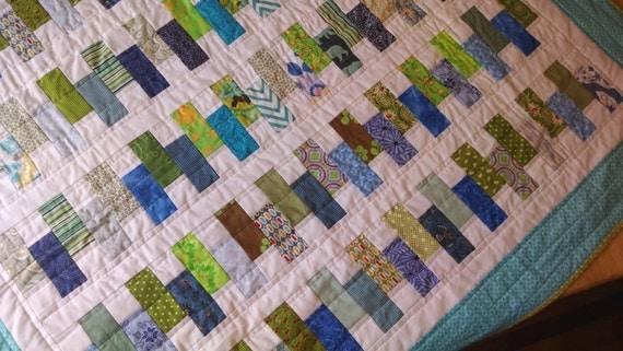 quilt, wedding gift, wedding shower gift, zipper pattern quilt ...