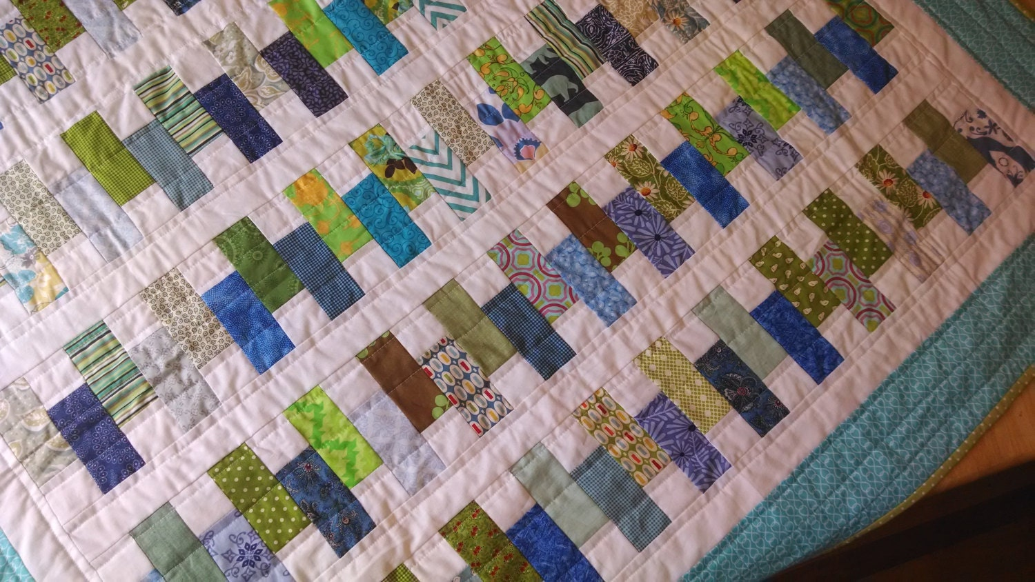 Quilt Patterns For Wedding Gifts : modern patchwork quilt wedding gift wedding shower gift