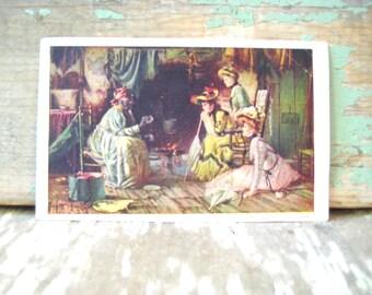Vintage 1906 Fortune Teller Victorian postcard.