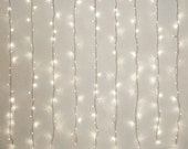 LED Curtain Fairy Lights Multi Function, 198-LED, White