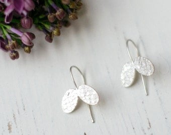 Catkin Butterfly Hook Earrings