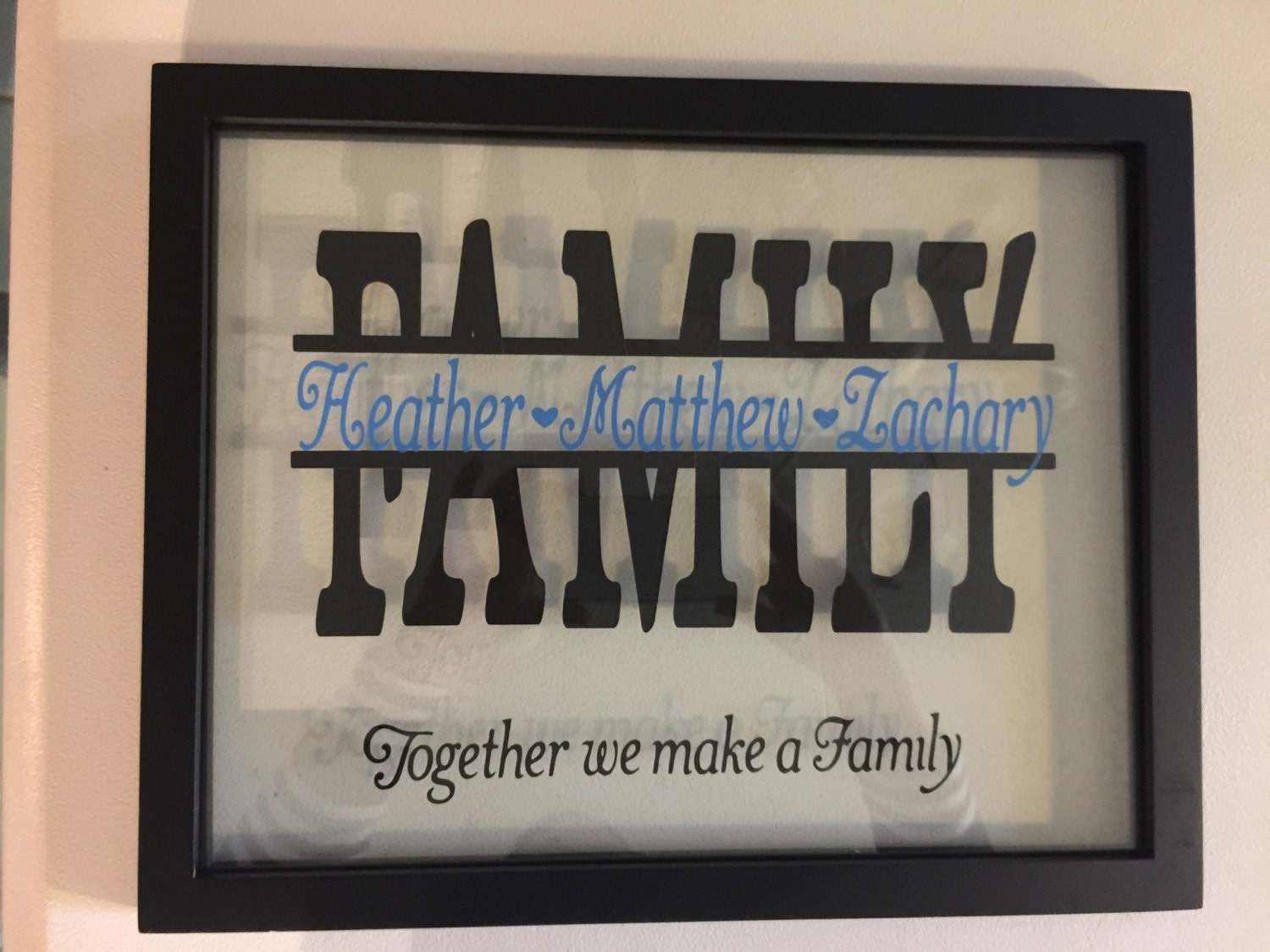 Personalized Picture Frame With Family Name Quote Family: Personalized Family Or Last Name Sign Picture Frame 11 X