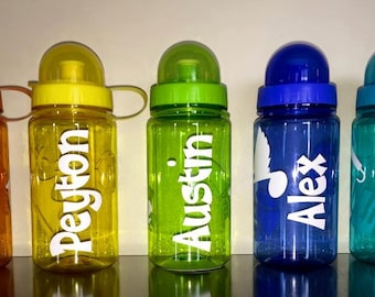 Personalized Water Bottles with Vinyl