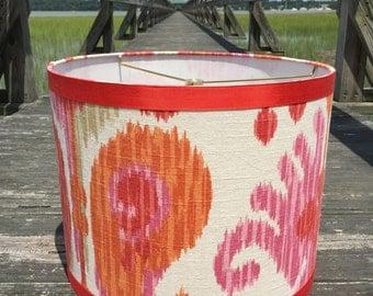 Colorful Ikat Large Drum Lamp Shade