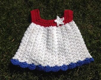 Patriotic newborn sundress